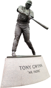 Tony Gwynn statue outside Petco Park.