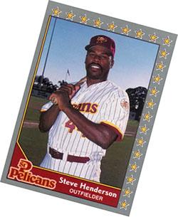 Steve Henderson St. Pete Pelicans card