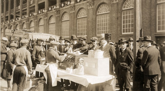 Vendors outside Ebbets field