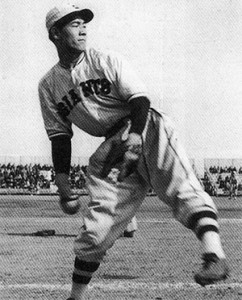 Eiji Sawamura threw three career no-hitters, including the first two in Japanese baseball history. He was killed in World War II in 1944.