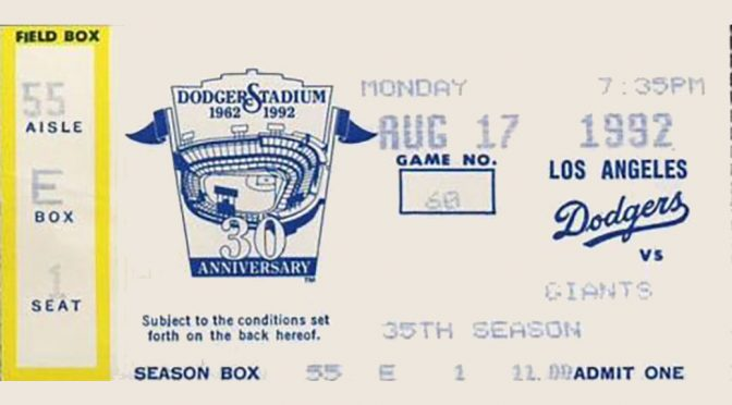 Gross tosses Dodgers' no-no vs. Giants, 24 years ago today