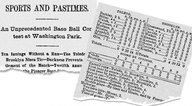 Only no-hitter with a 0-0 score was thrown 133 years ago today