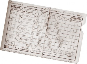 Lee Richmond perfect game scorecard