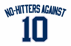 No-hitters against 10