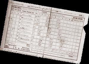 Lee Richmond perfect game scorecard
